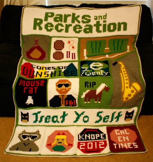 Parks and Rec Crochet Graphghan Blanket Pattern