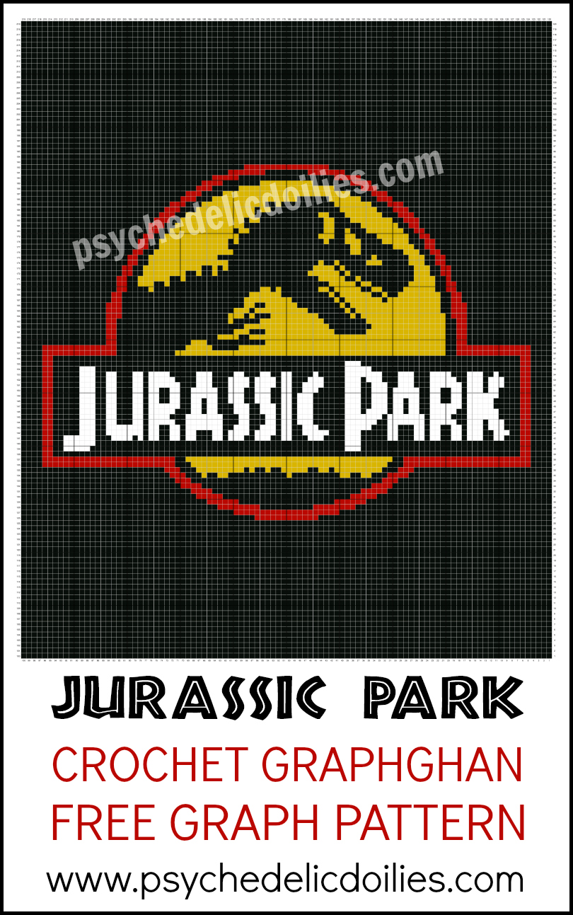 Jurassic Park Graph Free Crochet Pattern - Psychedelic Doilies