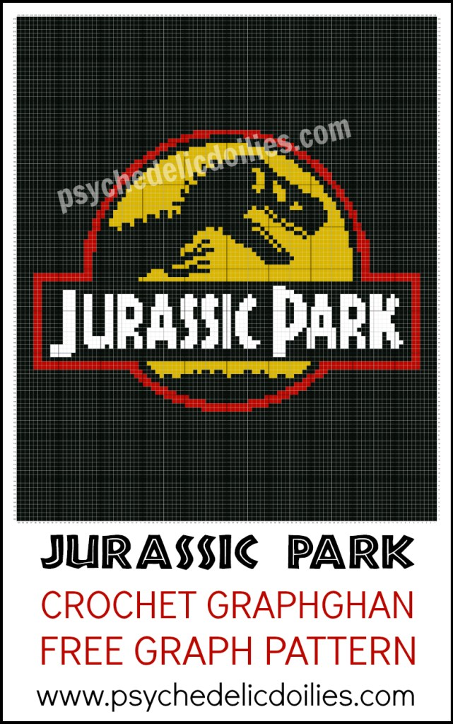 Jurassic Park Graph Free Crochet Pattern Psychedelic Doilies