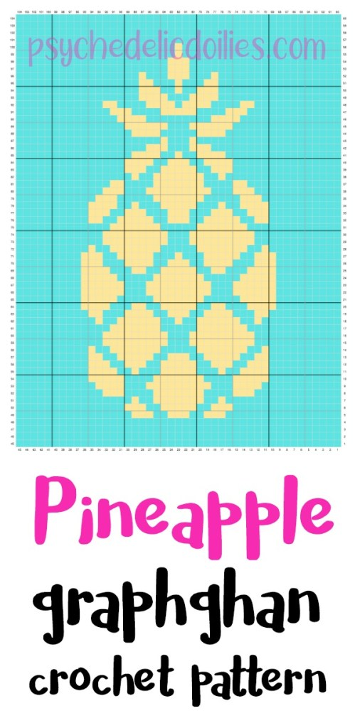 Pineapple Graph Free Crochet Pattern Psychedelic Doilies