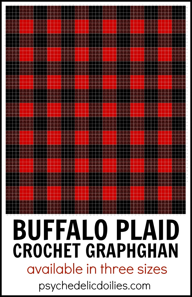 Buffalo Plaid Blanket Crochet Pattern Graph - Psychedelic Doilies