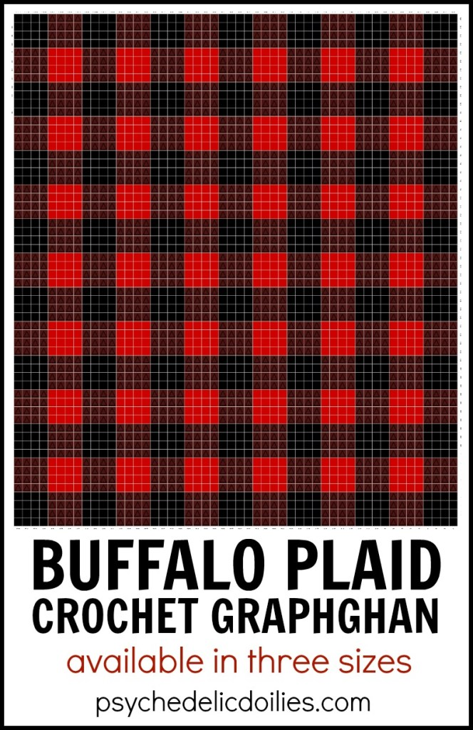 Buffalo Plaid Blanket Crochet Pattern Graph Psychedelic Doilies