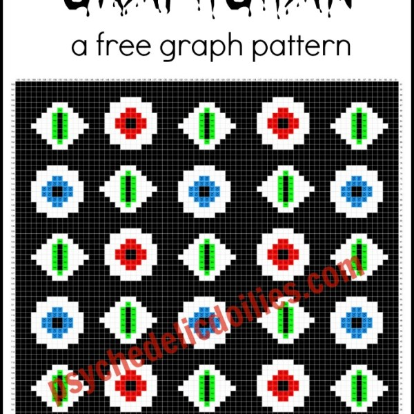 eyeballs graphghan free crochet pattern
