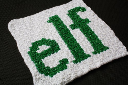 Buddy the Elf Crochet along blanket graphghan pattern.