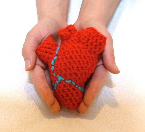 Anatomically correct heart crochet pattern on Etsy.
