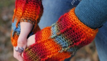 Dragon Gloves Free Crochet Pattern Psychedelic Doilies