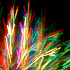 Tree of Light Sculpture Diffracting Into Rainbows