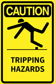 tripping hazards