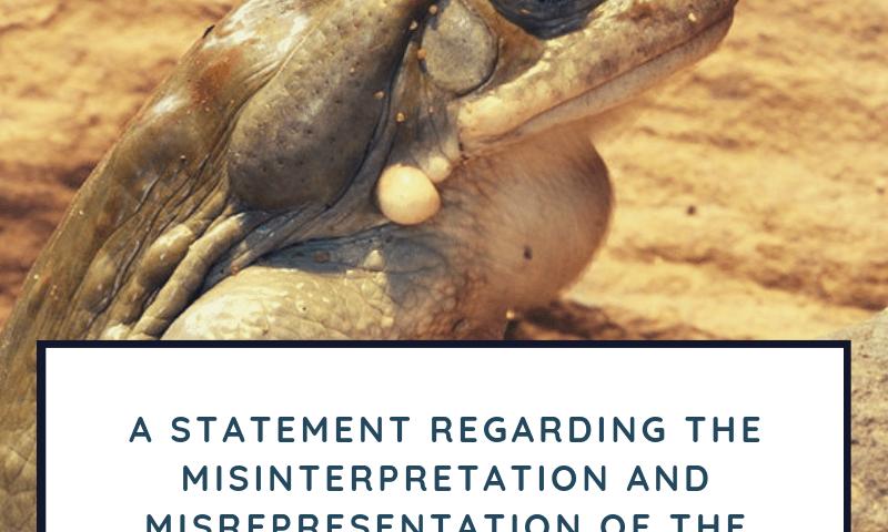 A statement regarding the misinterpretation and