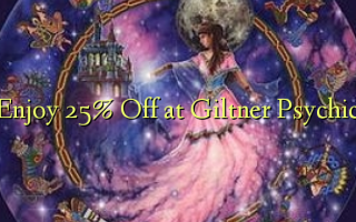 Enjoy 25% Off at Giltner Psychic