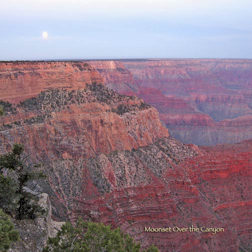 Moonset Over Grand Canyon