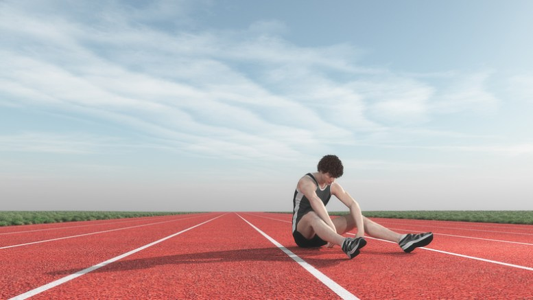 Athlete defeated in competition.