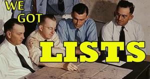 We Got Lists
