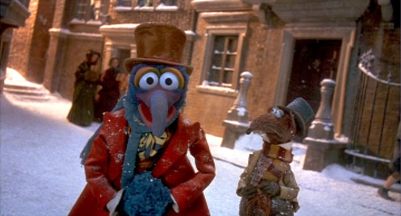 all of the muppet gags and silliness have been reserved for gonzo and rizzo while the other central muppet characters are much more serious and straight - Muppet Christmas Carol Songs