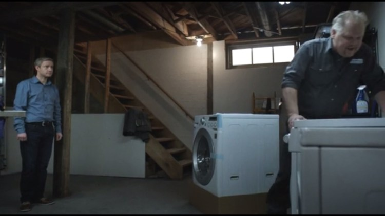 Lester's new washing machine