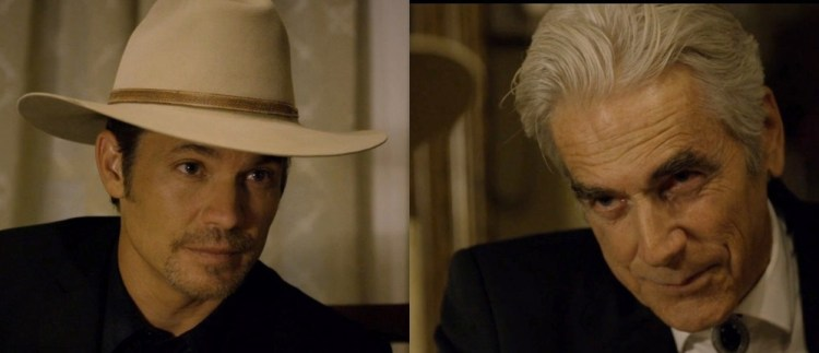 Raylan and Avery Stare Down