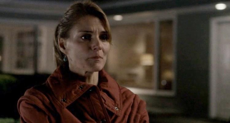 Sandra holding back the tears