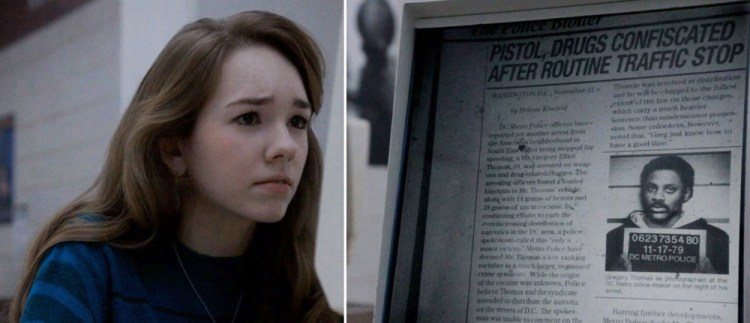 Paige Looking at Microfiche