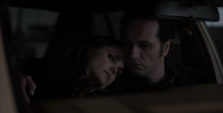 Philip and Elizabeth in the Car