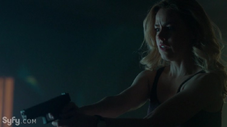 Amanda Schull Strikes a Pose with a Gun