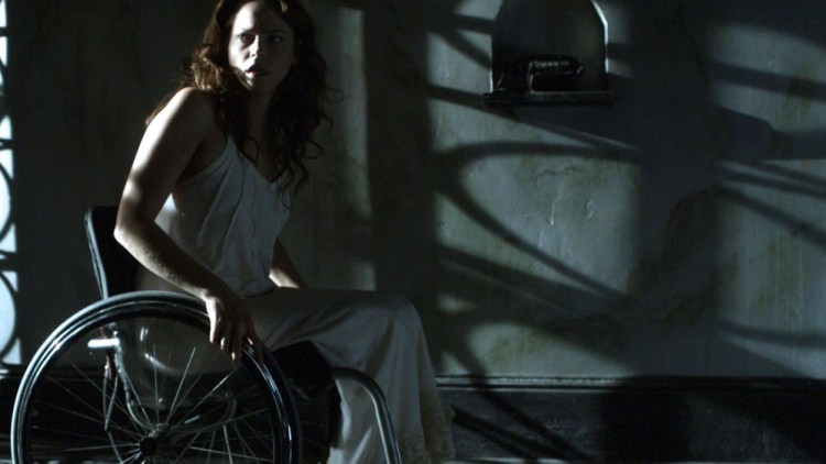 Nica in wheelchair