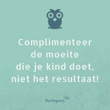 Psychogoed uiltje: Complimenteer de moeite die je kind doet, niet het resultaat!