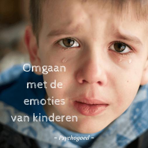 Omgaan met emoties van kinderen