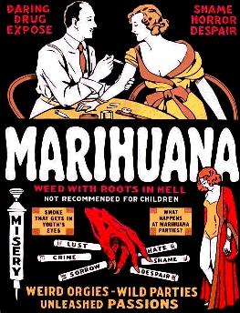 Plakat informujący o szkodliwości marihuany