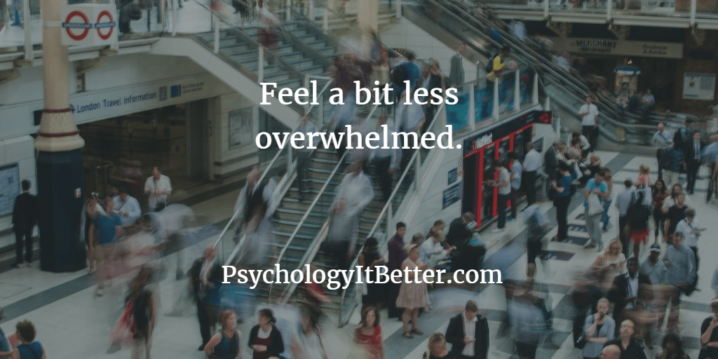 Feeling a little bit overwhelmed?