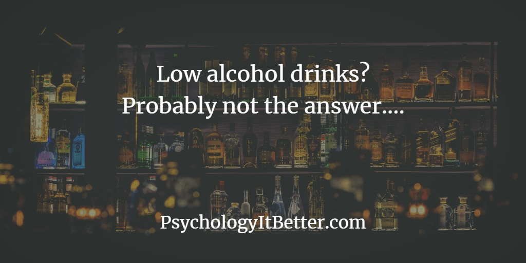 Low alcohol drinks