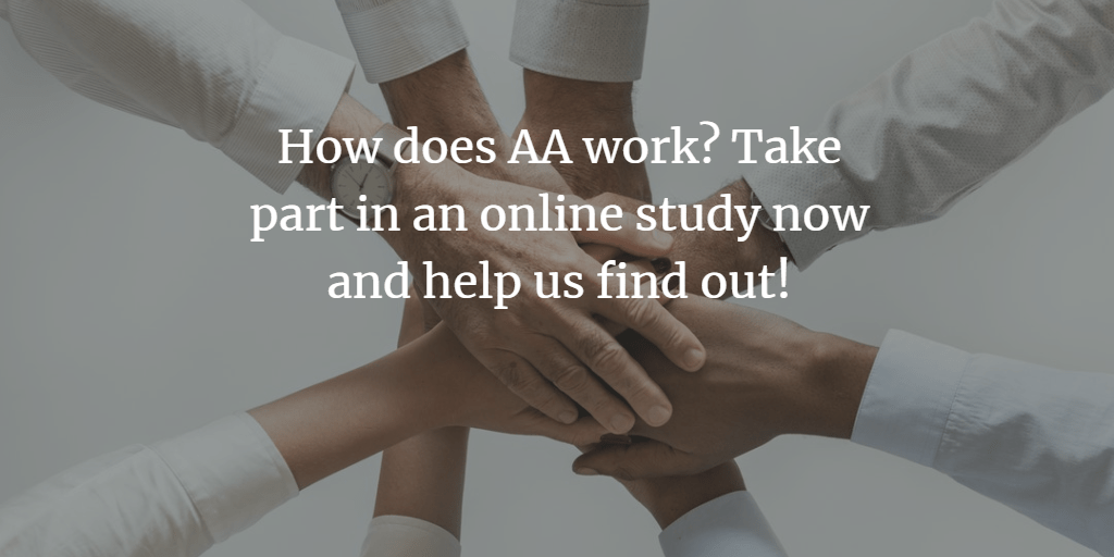 Are you a member of AA? Research opportunity!