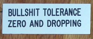 zero-tolerance