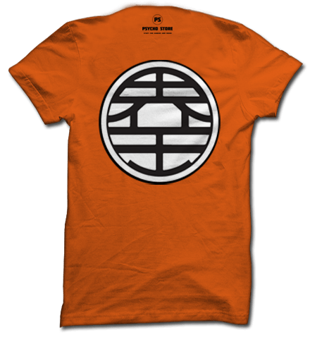 kaa-mee-haa-mee-haaaaaaa !!<br>Get this Goku inspired dragon ball z t shirt with Master Roshi's symbol in the front and King kai's symbol in the back.