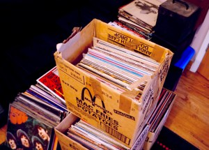 Sell my record collection - box of records