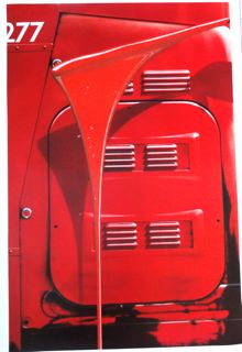 Red Bus Red Paint by Michael English Poster
