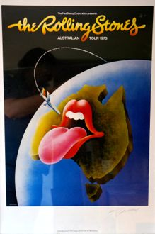 Rolling Stones Aussie Tour poster