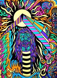 philosopher black light poster