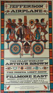 Bill Graham 1968 Jeffersen Airplane poster
