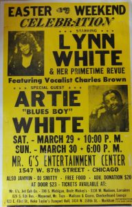 Lynn White and Artie White and vocalist Charles Brown