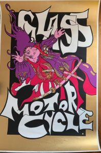 Glass Motorcycle poster