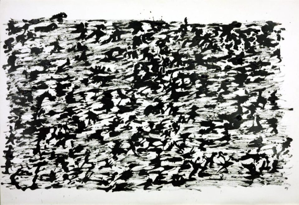 """Michaux Painting """"Chinese Ink drawing, 1961"""", painted under the influence of mescaline."""