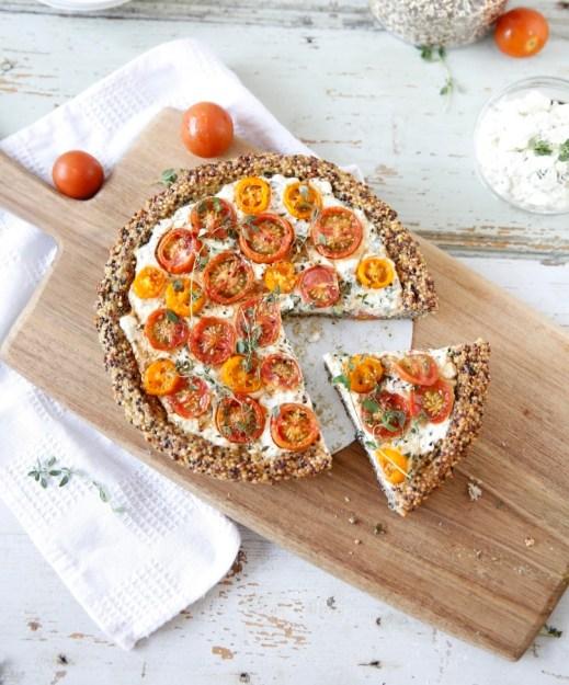 Tarte au fromage et à la tomate