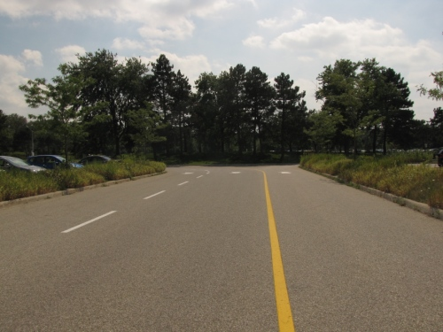 Parking lot access road