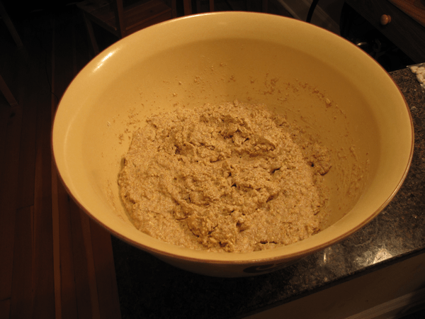 With more water, dough is ready