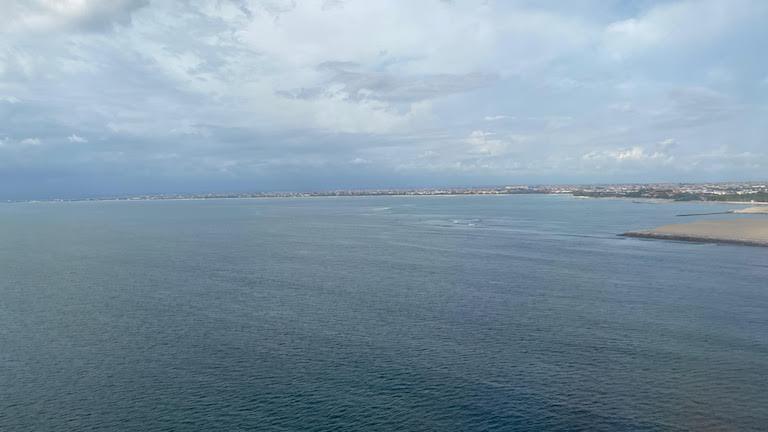 バリ島沖上空