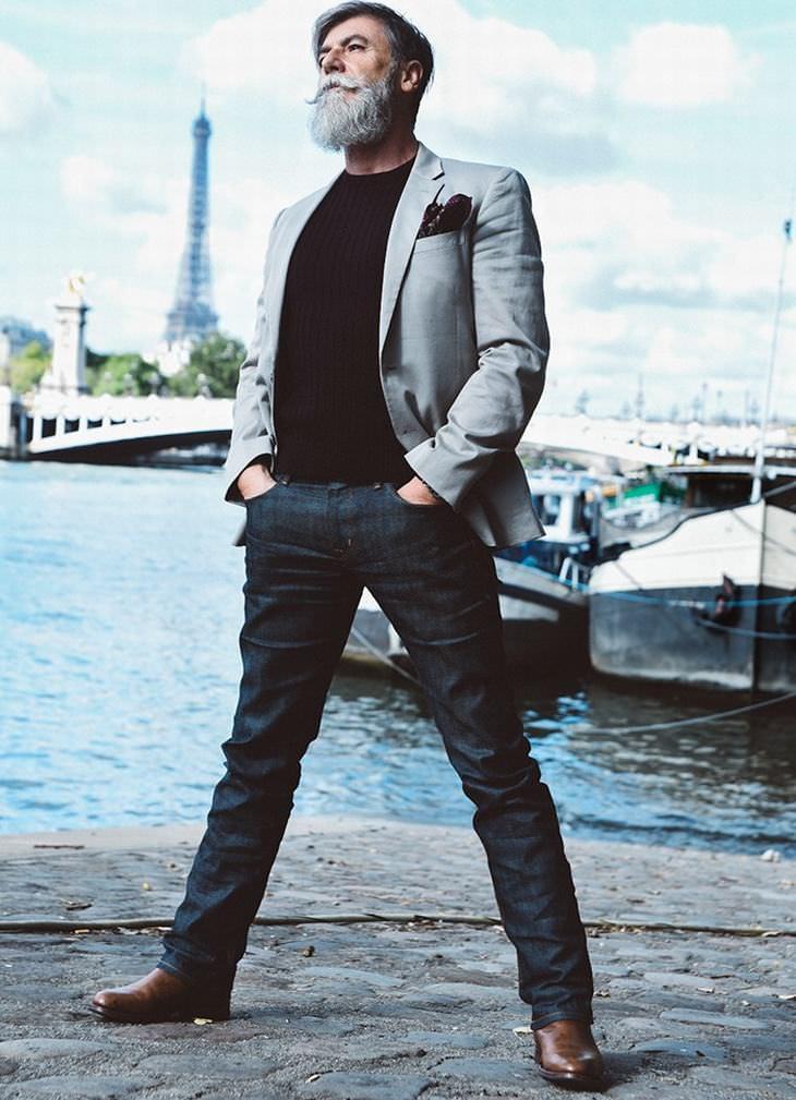 philippe dumas, o modelo de 60 anos que é sensação em paris