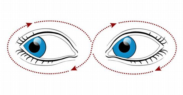10 exercícios simples nos olhos