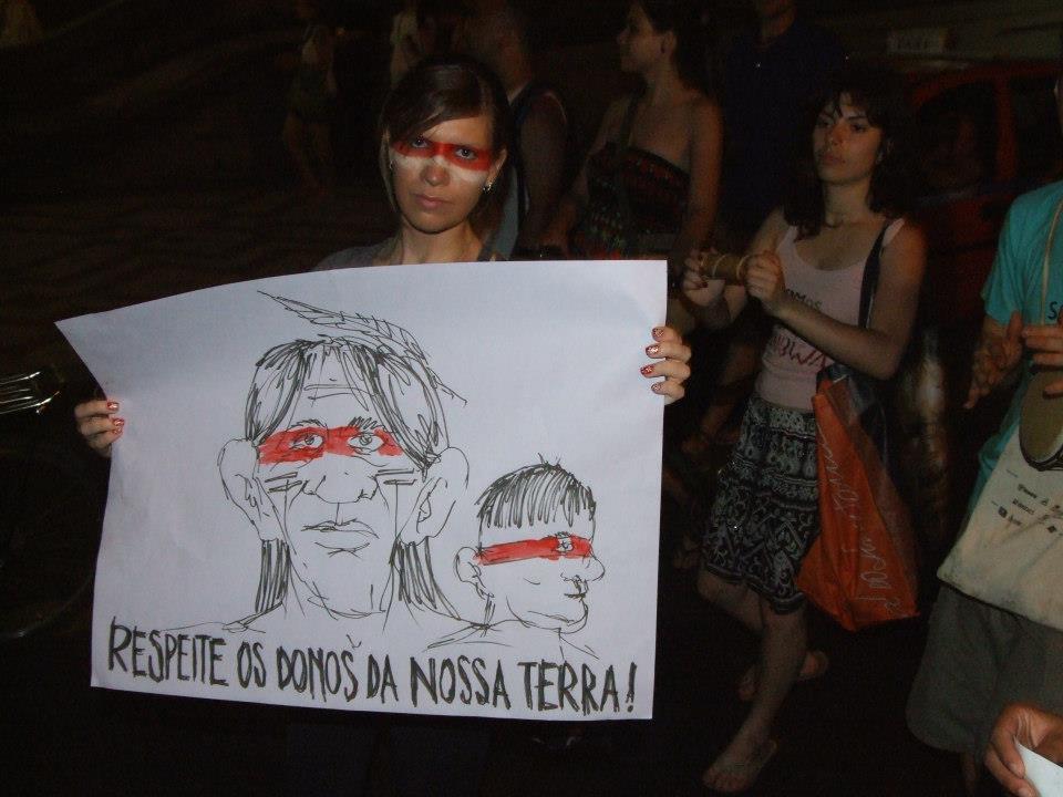 Manifestazione pressoPorto Alegre. Foto diAlex Haubrich, usata con permesso.