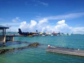 Aeroporto de Seaplanes, Ilhas Maldivas. Por Packing my Suitcase