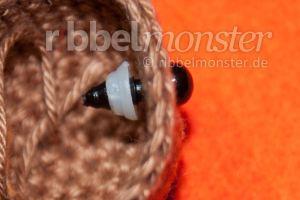 Amigurumi - Sicherheitsaugen anbringen - Safety eyes - Anleitung - Häkelanleitung